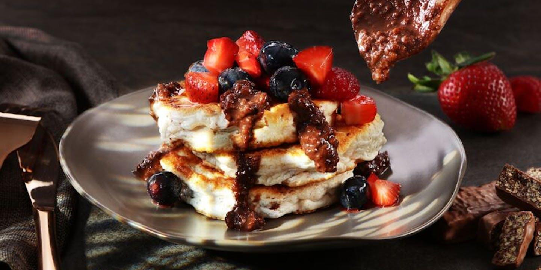 Das perfekte Dessert für Sportler: Neoh Double Choc Pancakes